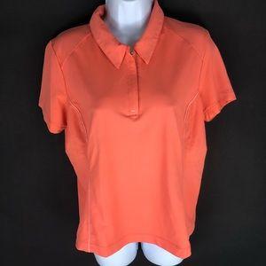 Nike Women's Orange Golf Polo Shirt M